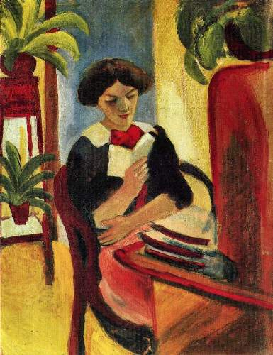 August Macke - Elisabeth at her desk [2]